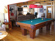 Pool table picture at Ruffed Grouse Lodge - Northwoods vacation resort in Phillips Wisconsin