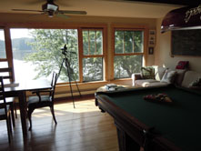 Pool table picture at Ruffed Grouse Lodge in Phillips Wisconsin - resort for your northwoods vacation