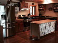 Lodge kitchen at Ruffed Grouse Lodge - northwoods vacation resort retreat