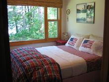 Timberdoodle cabin bedroom pic at Ruffed Grouse Lodge in Price County Wisconsin