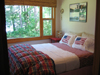 Timberdoodle cabin bedroom  picture Ruffed Grouse Lodge Phillips Wisconsin - bird hunting accommodations resort phillips wi